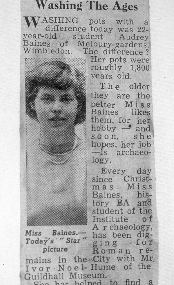 Audrey Baines Press clipping