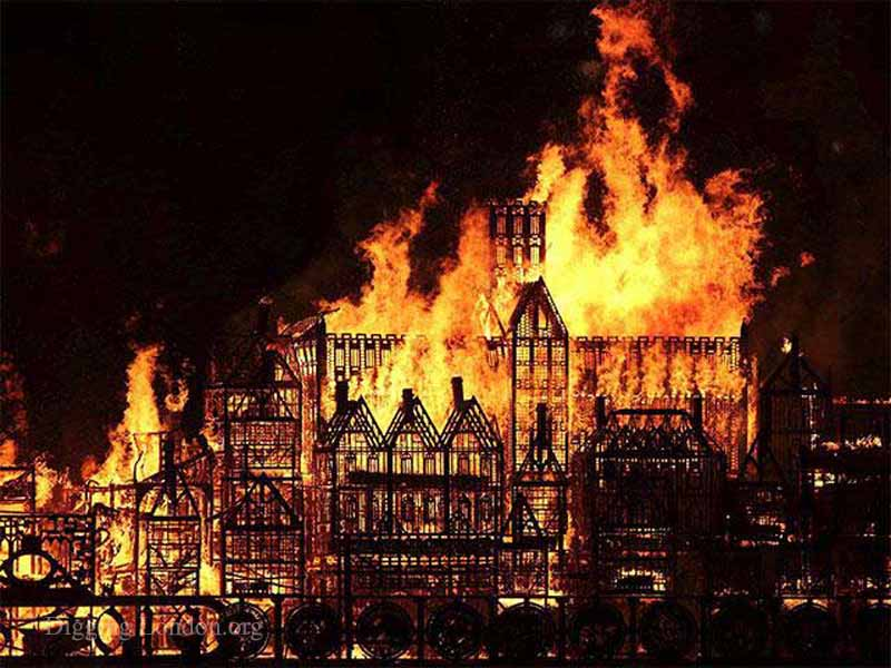 London's Burning (Great Fire 350): St Paul's Cathedral on fire yet again