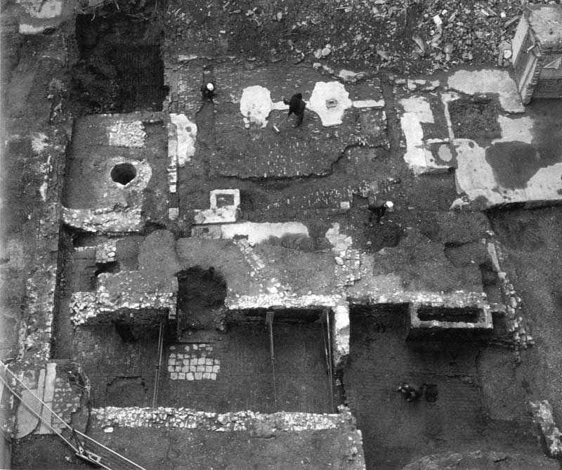 Monument House excavation aerial view