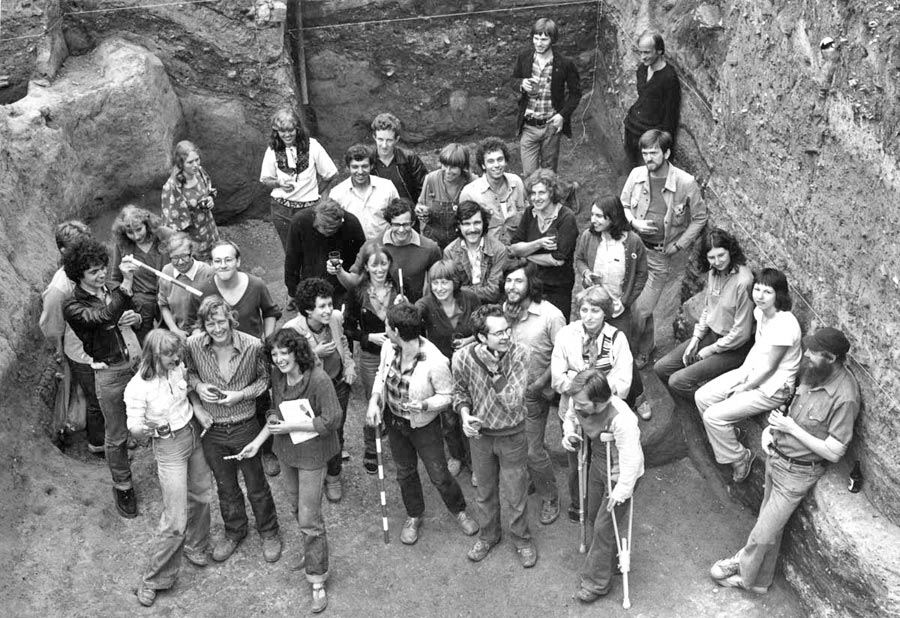 GPO Newgate Street 1978: party in the Roman quarry pit.