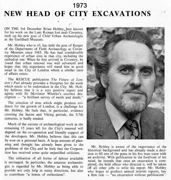 Hobley New Head 1973