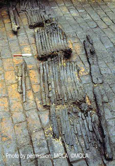 Peninsular House Excavation (PEN79) showing burnt barrels