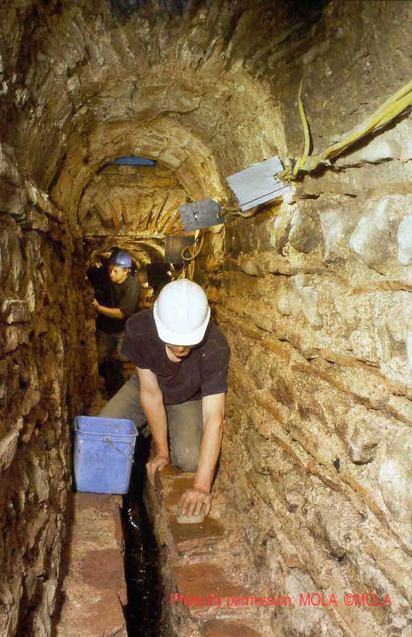 Dave Mackie and Ian Blair in culvert